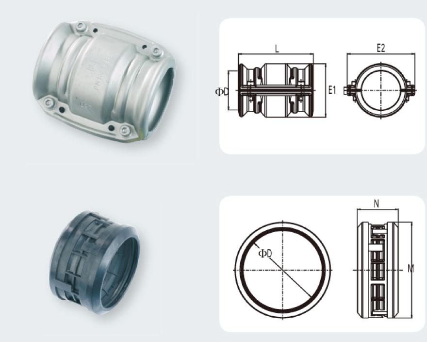 Transair管对管对头D76-D100 legris压缩空气配管、空压管路、乐可利空压管