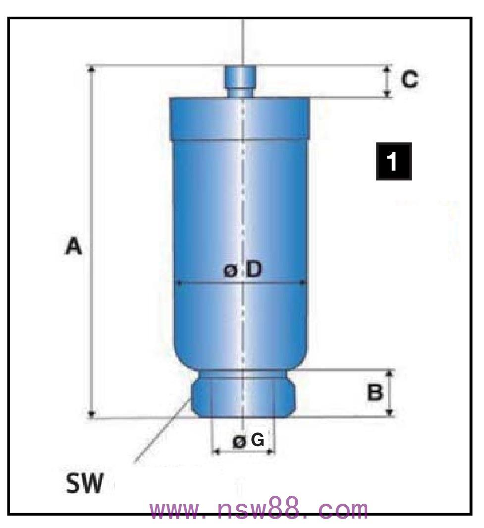 低压囊师蓄能器ELG及OLG系列20及50BAR