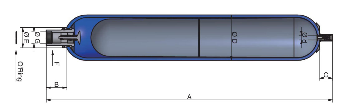 低压囊师蓄能器EHV系列250-350bar,0.2至10Litres