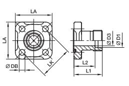 BFG 齿轮泵直通液压方形法兰接头-EO 24°锥连接、PARKER卡套接头、PARKER接头