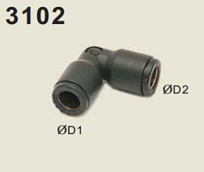 legris乐可利管对管直角接头3102 legris气动 legris球阀