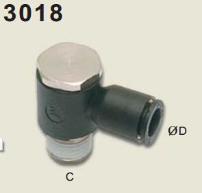 legris乐可利绞接式接头, BSPT(即PT斜螺纹)3108