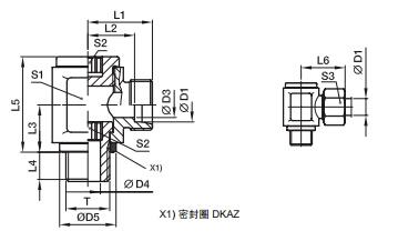 DSVW-M 低压铰接式接头-公制螺纹金属密封、PARKER卡套接头、parker球阀