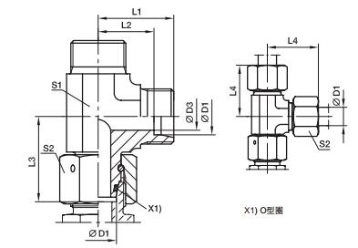 EL 三通组合接头 PARKER卡套接头 parker软管