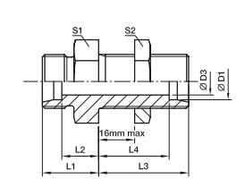 SV 直通隔板板式接头、PARKER接头、PARKER卡套接头