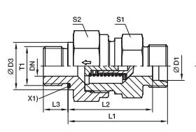 RHZ-M-ED 单向阀 英制螺纹-ED密封、PARKER接头、parker球阀