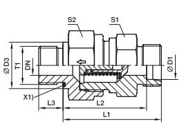 RHZ-R-ED 单向阀 英制螺纹-ED密封、PARKER卡套接头、parker球阀