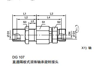 DG 隔板式滚珠轴承旋转接头、parker球阀、PARKER卡套接头