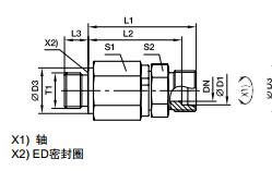 DG-R 英制外螺纹滚珠轴承旋转接头、PARKER卡套接头、PARKER接头
