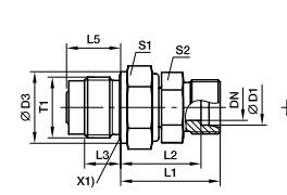 DVGE-M 端直通滑动轴承旋转接头、PARKER卡套接头parker球阀