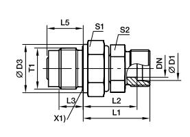 DVGE-R 端直通滑动轴承旋转接头、parker球阀、PARKER接头