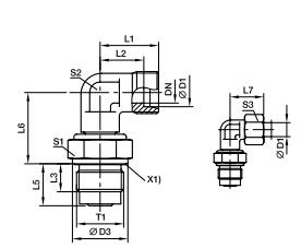 DVWE-M 90°滑动轴承旋转接头、parker球阀、PARKER卡套接头