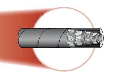 721TC不剥胶缠绕软管 parker 管件 parker 管件