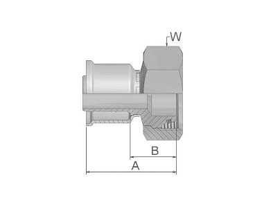 Parker胶管派克胶管接头26系列1CA26公制24°锥内螺纹带O形圈 轻系列 直接头、PARKER接头、parker球阀