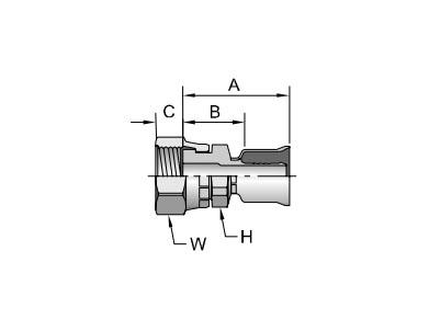 Parker胶管派克胶管接头26系列1JC26ORFS内螺纹 直接头 短型、PARKER卡套接头、parker球阀