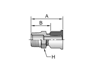 Parker胶管派克胶管接头26系列10126NPTF外螺纹 直接头、PARKER接头、PARKER卡套接头