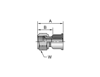 Parker胶管派克胶管接头26系列10826SAE 45?锥内螺纹 直接头、parker球阀、PARKER卡套接头