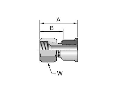 Parker胶管派克胶管接头26系列16826JIC37? SAE 45? 双锥 内螺纹 直接头、PARKER接头、PARKER卡套接头