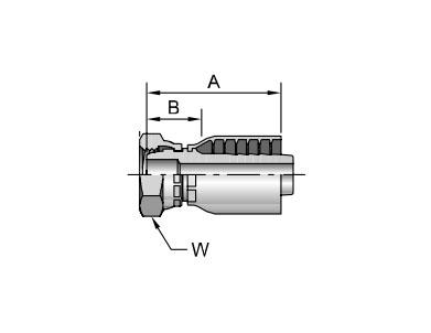 Parker胶管派克胶管接头43系列1C343公制内螺纹 轻系列 直接头(球头) 、PARKER卡套接头、parker球阀