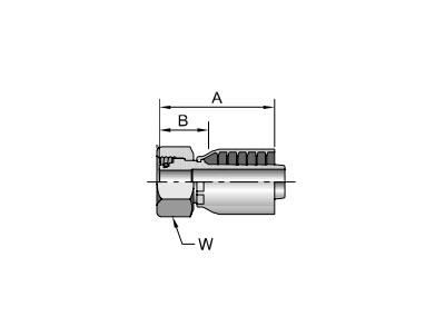 Parker胶管派克胶管接头43系列1CA43公制24°锥内螺纹带O形圈 轻系列 直接头、PARKER卡套接头、parker球阀