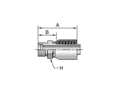 Parker胶管派克胶管接头43系列1D043公制24°锥外螺纹 轻系列 直接头、PARKER接头、PARKER卡套接头