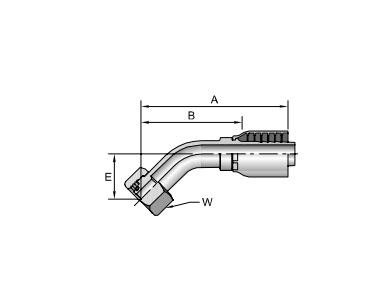 Parker胶管派克胶管接头43系列1CE43公制24°锥内螺纹带O形圈 轻系列 45°接头、parker球阀、PARKER接头